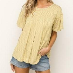 Tops - Mustard Stripe Top